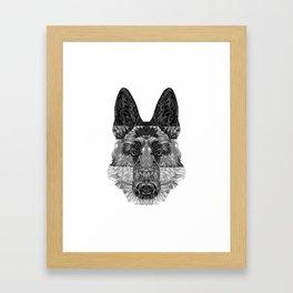 Black and white Gary Framed Art Print