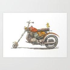 Birdie's Bike Art Print