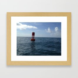 Port Shipping Channel, Ocean Buoy,  Beaufort Inlet, Atlantic Framed Art Print