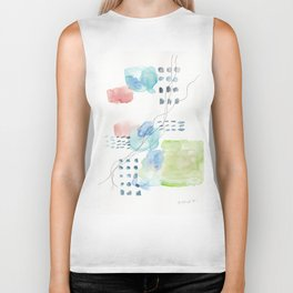 180805 Subtle Confidence 4| Colorful Abstract |Modern Watercolor Art Biker Tank