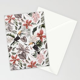 Toucans in the flowered jungle 6 Stationery Cards