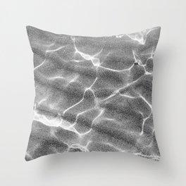 Crystalline Sea - Grey & White Throw Pillow