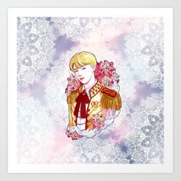BTS JIN, King SEOKJIN, Kings of KPOP, Love Yourself, Boy With Luv Art Print