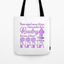 Reading Nana Tote Bag