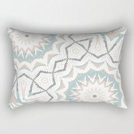 Planthouse Aztec Stone & Blue Rectangular Pillow