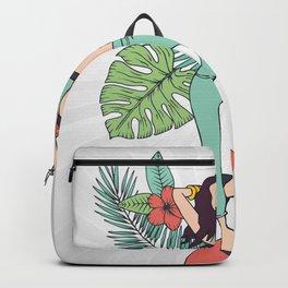 Monstera Girl Backpack