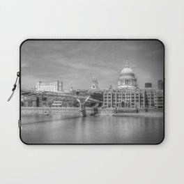 St Pauls Cathedral and the Millenium Bridge London Laptop Sleeve