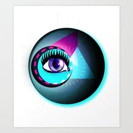 Halftone Eyeball Art Print