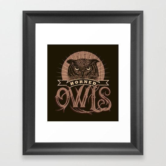 Team Owl Framed Art Print