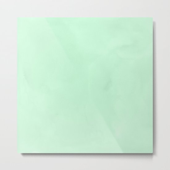 Sea Green Watercolor Metal Print