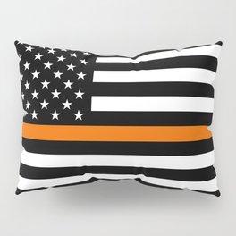 Search & Rescue: Black Flag & Thin Orange Pillow Sham