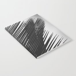 Tropical Palm Leaf Black and White Notebook