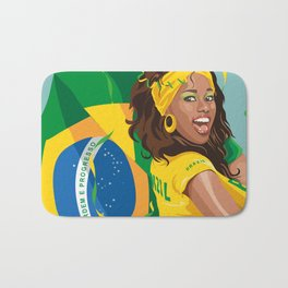 Brazilian Soccer Fan Bath Mat