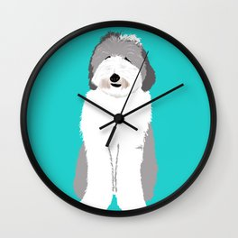 Lucy The Sheepadoodle Wall Clock