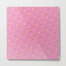 Avocado Print | Pink Metal Print