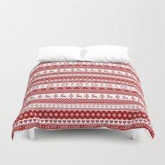 Nordic fair isle Christmas pattern Duvet Cover