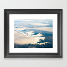 Mountains with snow Framed Art Print