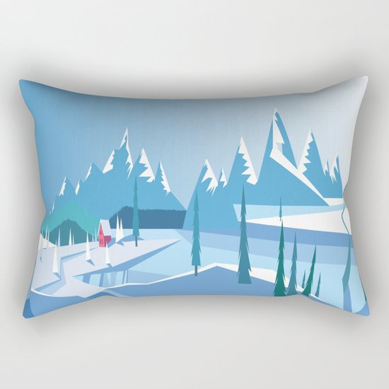 In The Ice Cold North No. 2 Rectangular Pillow