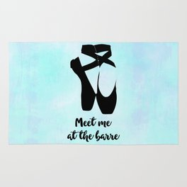 Meet Me at the Barre Ballet Shoes Rug
