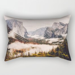 Amazing Yosemite California Forest Waterfall Canyon Rectangular Pillow