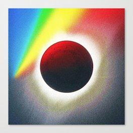 Solar eclipse spectrum  of 2017 2 Canvas Print