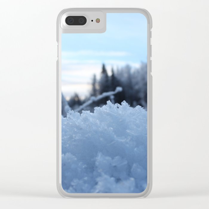 Frosted Crystals Clear iPhone Case