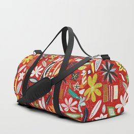 beachy red Duffle Bag