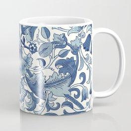William Morris Navy Blue Botanical Pattern 1 Coffee Mug