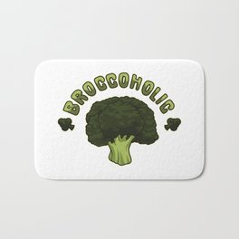 Broccoholic -  Broccoli Plant Vegan Vegetables Bath Mat