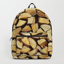 Wood, rustic pattern Backpack