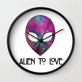 Alien to Love - PURPLE Wall Clock