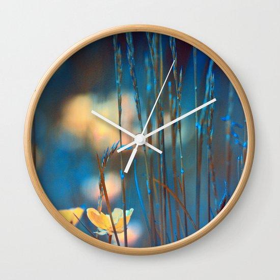 Blue dusk. Wall Clock
