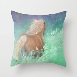 Run with the wind Throw Pillow