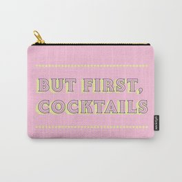 Pastel Pink Party Cocktails Carry-All Pouch