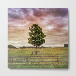Magical Season - Spring tree photo, Nature photograph, rural country photo landscape Metal Print