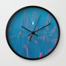 Neon Waterfalls Wall Clock