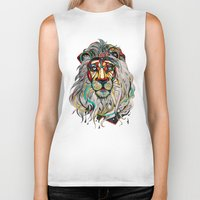 the lion king Biker Tanks featuring Lion by Felicia Atanasiu