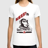 soviet T-shirts featuring Soviet Space Monkey by Chris Kawagiwa