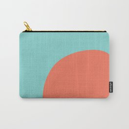 turquoise and orange Carry-All Pouch