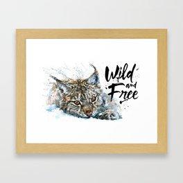 Lynx Wild and Free Framed Art Print
