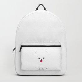Fluffy Pomeranian Puppy Backpack