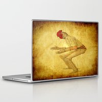cock Laptop & iPad Skins featuring Cricket cock by Ganech joe