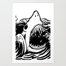 Shark off Art Print