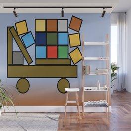 Kiddies Little Truck with Bricks Wall Mural