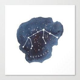 aquarius constellation zodiac Canvas Print