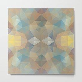 Triangles design in pastel colors Metal Print