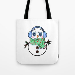 Happy Snowman Christmas Present Winter gift Tote Bag