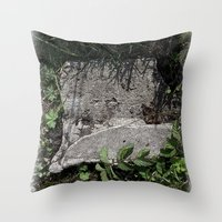 concrete Throw Pillows featuring concrete by Ruud van Koningsbrugge