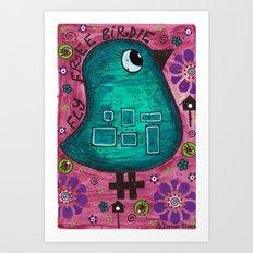 Fly free birdie Art Print