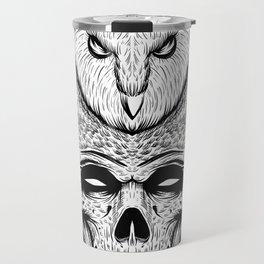 Skull owl tatto Travel Mug